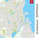 vector color map of  copenhagen ... | Shutterstock .eps vector #569994325