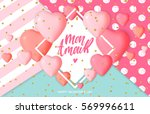 happy valentine's day card... | Shutterstock .eps vector #569996611