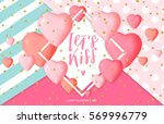 happy valentine's day card... | Shutterstock .eps vector #569996779