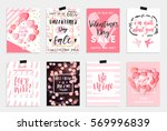 collection of pink  black ... | Shutterstock .eps vector #569996839