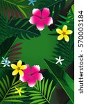 floral background  | Shutterstock . vector #570003184
