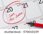 save the date written on a... | Shutterstock . vector #570010159
