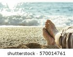 closeup of male legs on the... | Shutterstock . vector #570014761