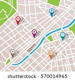 city map | Shutterstock .eps vector #570014965