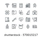 medical and healthcare. set of... | Shutterstock .eps vector #570015217