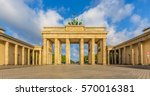 classic view of famous... | Shutterstock . vector #570016381