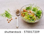 green wheat and mixed salad... | Shutterstock . vector #570017209