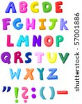 colorful letters set | Shutterstock .eps vector #57001886