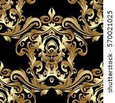 gold baroque ornaments. antique ... | Shutterstock .eps vector #570021025