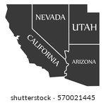 california   nevada   utah  ...   Shutterstock .eps vector #570021445