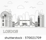 london city skyline silhouette... | Shutterstock .eps vector #570021709