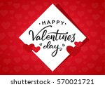vector illustration  romantic... | Shutterstock .eps vector #570021721