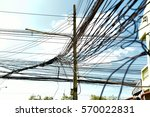 high voltage electricians | Shutterstock . vector #570022831