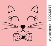 Stock vector cat graphic 570032599