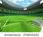 3d render of a round rugby... | Shutterstock . vector #570033244