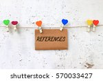 references   concept words on... | Shutterstock . vector #570033427