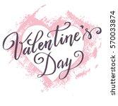 hand paint vector heart... | Shutterstock .eps vector #570033874