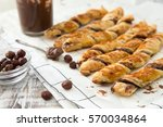 homemade cakes   puff pastry... | Shutterstock . vector #570034864
