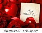 empty card  flowers  ribbon and ... | Shutterstock . vector #570052309