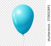 realistic light blue balloon.... | Shutterstock .eps vector #570052891