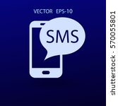 sms icon. vector illustration | Shutterstock .eps vector #570055801