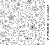 seamless pattern with outline... | Shutterstock .eps vector #570060685