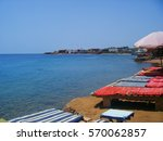 waterfront in dahab egypt | Shutterstock . vector #570062857