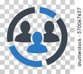 demography diagram icon. vector ... | Shutterstock .eps vector #570067657