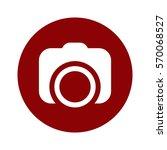 camera icon  flat design style