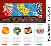 cinema auditorium infographics... | Shutterstock .eps vector #570069769