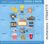 cinema and movie infographics... | Shutterstock .eps vector #570069775