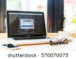 bangkok. thailand. january 24 ... | Shutterstock . vector #570070075