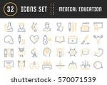 set vector line icons  sign and ... | Shutterstock .eps vector #570071539