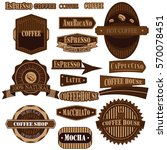 drinks and beverages icon set | Shutterstock .eps vector #570078451