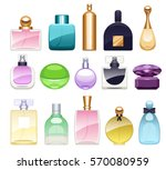 Perfume Bottles Icons Set...