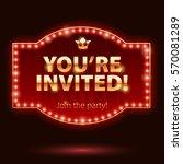 you're invited sticker.... | Shutterstock .eps vector #570081289