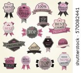 set of classic badges for your... | Shutterstock .eps vector #570082441