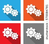 settings   flat style icon for...   Shutterstock .eps vector #570084781