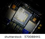 integrated circuit pcb board... | Shutterstock . vector #570088441