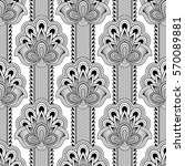 seamless asian ethnic floral... | Shutterstock .eps vector #570089881