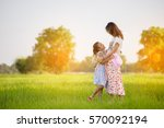 happy family in mother's day... | Shutterstock . vector #570092194