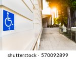 disabled sign in singapore park ... | Shutterstock . vector #570092899