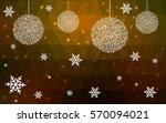 dark green yellow vector... | Shutterstock .eps vector #570094021