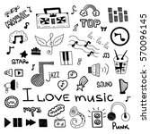 set of music symbols | Shutterstock .eps vector #570096145