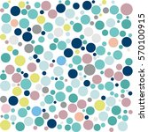 colored circle seamless pattern  | Shutterstock .eps vector #570100915