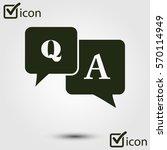 q a sign symbol. speech bubbles ... | Shutterstock .eps vector #570114949