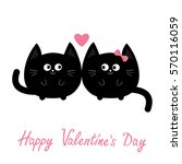 round shape black cat icon.... | Shutterstock .eps vector #570116059