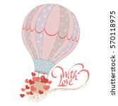 romantic card or label for gift ... | Shutterstock .eps vector #570118975