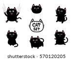 black fat cat set. nail claw...