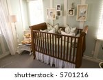 baby bedroom with crib. | Shutterstock . vector #5701216